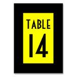 Negro y amarillo numerados
