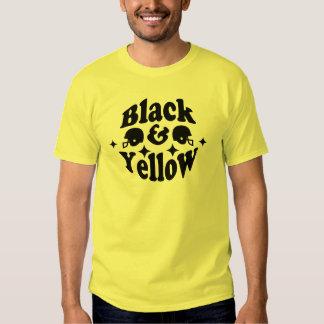 Negro y amarillo polera