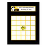 Negro y amarillo programables de la construcción d tarjetas postales