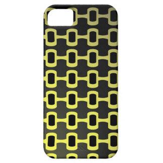 Negro y amarillo retros iPhone 5 carcasas
