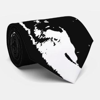 Negro y arte pop de White Wolf Corbata Personalizada