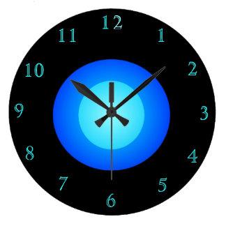 Negro y azul/aguamarina > la cocina moderna regist reloj redondo grande