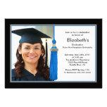 Negro y azul de la invitación de la graduación de