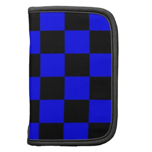Negro y azul del modelo del tablero de damas planificador