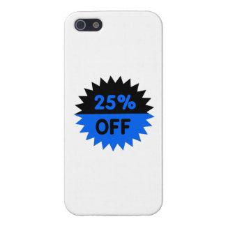Negro y azul el 25 por ciento apagado iPhone 5 coberturas