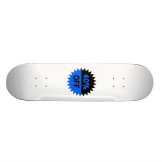 Negro y azul el 40 por ciento apagado tablas de patinar