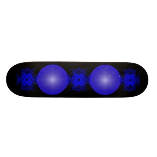 Negro y azul tabla de patinar