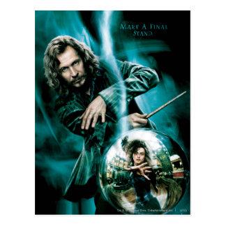 Negro y Bellatrix Lestrange de Sirius Tarjeta Postal