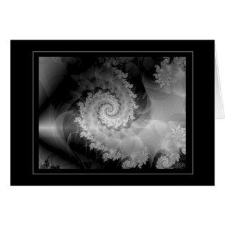 Negro y blanco 2 (Dragontail) Tarjeta De Felicitación