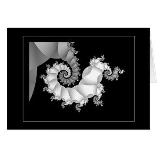 Negro y blanco 3 (embrionarios) tarjeta de felicitación