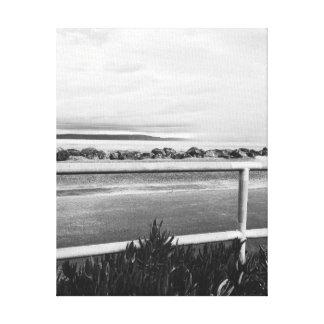 Negro y blanco adoptivos del rastro de la bahía de impresiones en lienzo estiradas