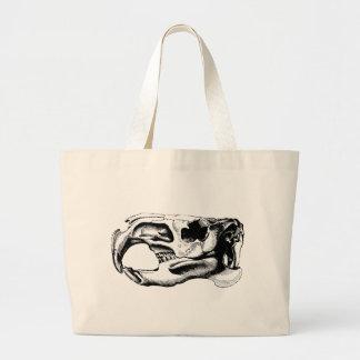 Negro y blanco anatómicos del cráneo del castor bolsa tela grande