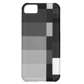 Negro y blanco barra el caso del iPhone 5