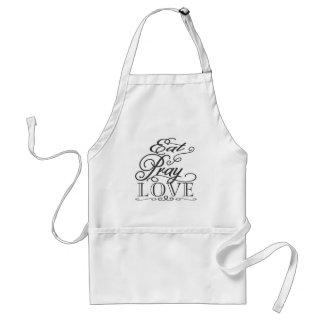 Negro y blanco coma ruegan el amor que cocina el delantal
