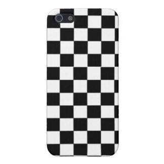 Negro y blanco de la afición de los juegos de mesa iPhone 5 funda