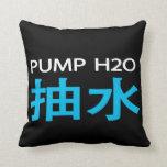 Negro y blanco de la almohada del 抽水 de la bomba H