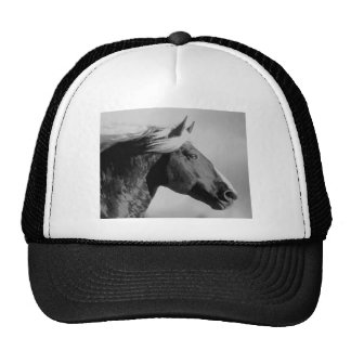 Negro y blanco de la cabeza de caballo gorras de camionero