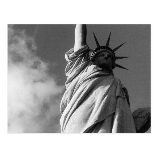 negro y blanco de la libertad tarjeta postal