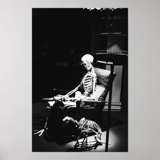 Negro y blanco de la muerte impresiones