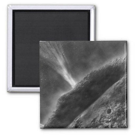 Negro y blanco de Marte Imán Cuadrado