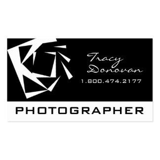 """Negro y blanco de moda del """"cuarzo"""" del fotógrafo tarjetas de visita"""