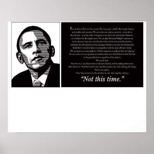 Negro y blanco de Obama Impresiones