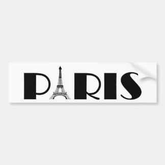 Negro y blanco de París de la torre Eiffel Pegatina Para Auto