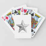 Negro y blanco del arte de la playa del océano del baraja de cartas