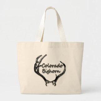 Negro y blanco del Big Horn de Colorado Bolsa De Mano
