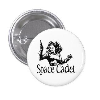 Negro y blanco del cadete del espacio pin redondo 2,5 cm