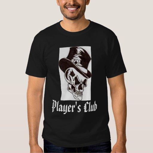 Negro y blanco del club de los jugadores playera