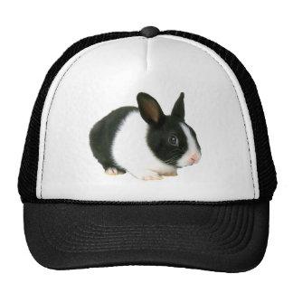 Negro y blanco del conejo de conejito gorros