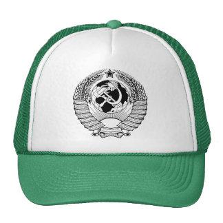 Negro y blanco del escudo de armas de Unión Soviét Gorras De Camionero