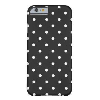 Negro y blanco del lunar funda de iPhone 6 barely there