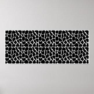 Negro y blanco del modelo de la jirafa impresiones
