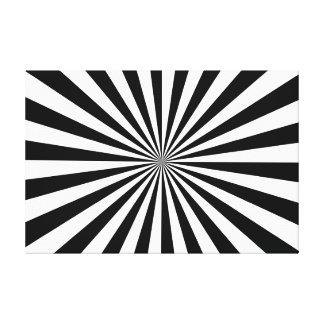 Negro y blanco estirados de la impresión de la lienzo envuelto para galerias