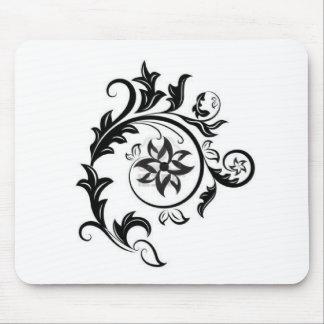 negro-y-blanco-floral-diseño-elemento-ISO 15011824 Mousepad