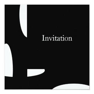 """Negro y blanco forma todos los acontecimientos invitación 5.25"""" x 5.25"""""""