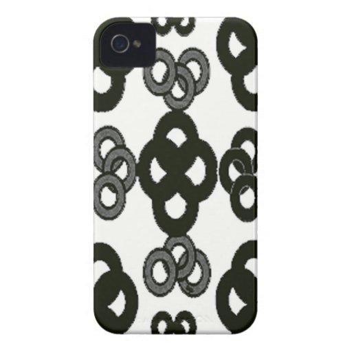 Negro y blanco iPhone 4 cárcasa