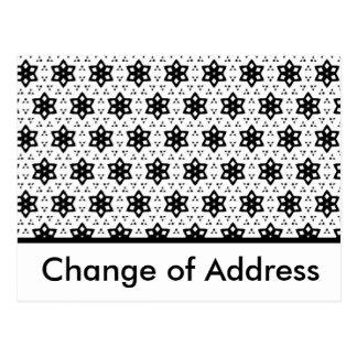 Negro y blanco modela hexágonos del   III Tarjetas Postales
