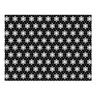 Negro y blanco modela hexágonos del   IV Tarjetas Postales