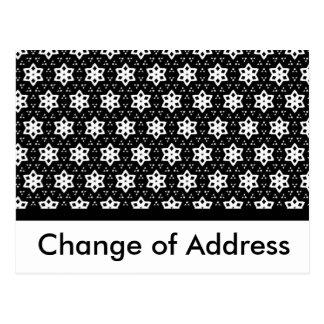 Negro y blanco modela hexágonos del   IV Tarjeta Postal