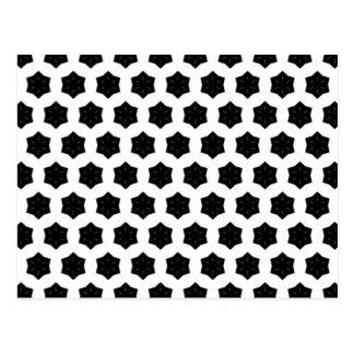Negro y blanco modela hexágonos del   VI Tarjeta Postal