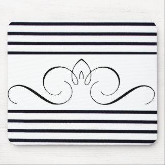 """Negro y Blanco-Monocromático """"llanos y simples"""" Mouse Pads"""