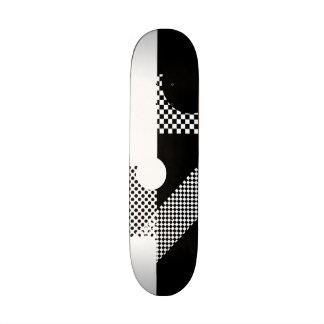 Negro y blanco patineta personalizada