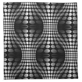 Negro y blanco punteados del papel pintado de las servilleta de papel