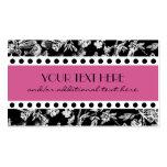 Negro y blanco, rosados plantilla de tarjeta de negocio