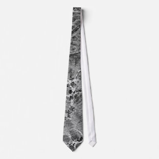 Negro y blanco veteados corbatas personalizadas
