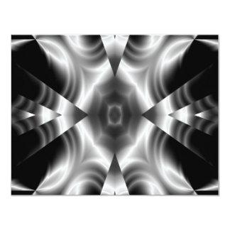 """Negro y blanco y sombras del gris invitación 4.25"""" x 5.5"""""""