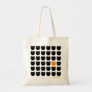 Negro y bolso del gato del jengibre bolsa tela barata